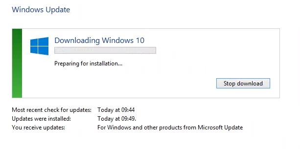 Upgrade to Windows 10 pro – Status Failed 80240020 – VaiPui