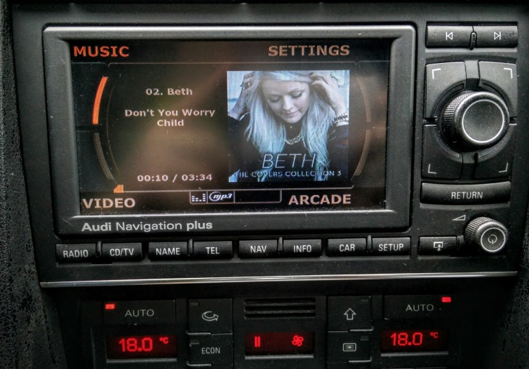 Audi AA BBC RNSE Controlling Raspberry Pi With Kodi - Audi rns e
